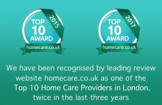Top 10 home care provider in London 2015 & 2017